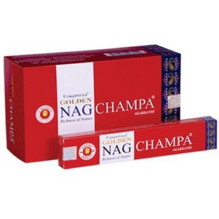Vijayshree Golden Nag Champa Masala Incense Sticks (1 x 15g box)